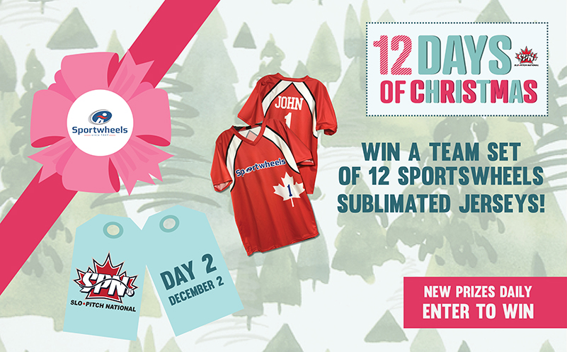 Day 2 Win a team set of Sportwheels Sublimated Jerseys!  ⚾⚾⚾