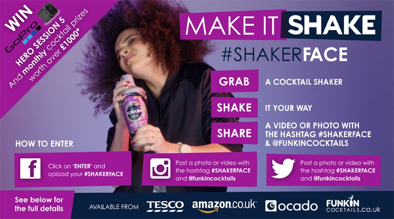 MAKE IT SHAKE and WINWill our judges choose your #SHAKERFACE to win a GoPro Session 5 and a Funkin Hamper*