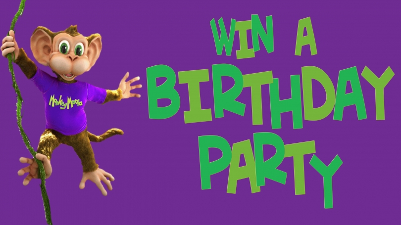 WIN A BIRTHDAY PARTY @ MONKEY MANIA!!